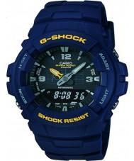 Casio G-100-2BVMUR Mens g-shock blue harts bandet klocka
