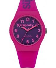 Superdry SYG164PV Damer urban rosa silikon band watch