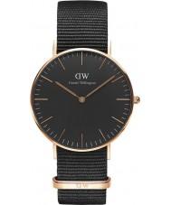 Daniel Wellington DW00100150 Klassiskt svart cornwall 36mm klocka