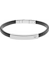 Emporio Armani EGS2063040 Mens signatur svart kolstål armband