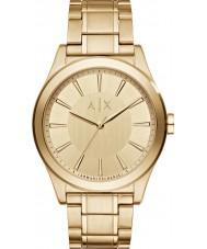 Armani Exchange AX2321 Män klänning guldpläterad armband klocka