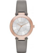 DKNY NY2296 Damer Stanhope 2,0 matt grå läderrem watch