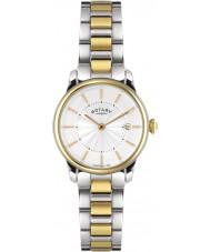 Rotary LB02772-06 Damer klockor locarno två ton stål watch