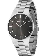 Police 14640MS-61M Mens prakt silver stål armband klocka