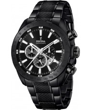 Festina F16889-1 Mens prestige svart stål chronographklockan