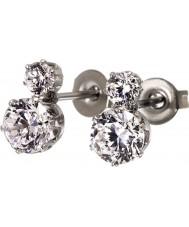 Edblad 31630124 Damer krona dubbla silver stål örhängen