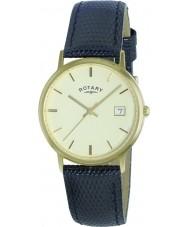 Rotary GS11476-03 Mens ädelmetaller 9ct guld fallet watch
