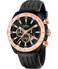 Festina F16899-1 Mens prestige svart läder chronographklockan
