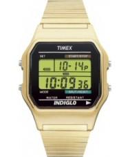 Timex T78677 Mens guld klassisk digital chronographklockan