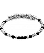 Emozioni DC151 Damer svart och försilvrad linda armband