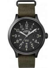 Timex TW4B06700 Mens scout grön läderrem watch