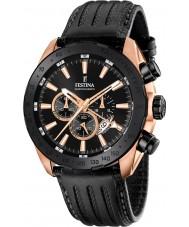 Festina F16900-1 Mens prestige svart läder chronographklockan