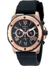 Bulova 98B104 Mens marina stjärna svart gummiband chronographklockan