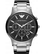 Emporio Armani AR2460 Mens klassiska kronograf svart silver klocka