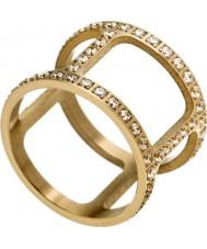 Edblad 3153441916-XS Damer helena gul guldpläterad ring med cz - storlek L (xs)