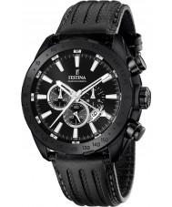 Festina F16901-1 Mens prestige svart läder chronographklockan