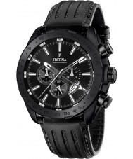 Festina F16902-1 Mens prestige svart läder chronographklockan