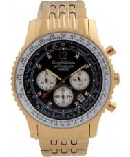 Krug-Baumen 600103DS Mens luft resande diamant klocka