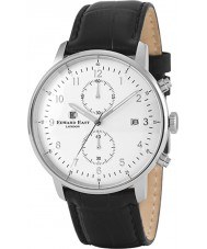 Edward East EDW1901G7 Mens svart läder chronographklockan