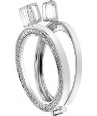 Emozioni DP487 25mm reversibel sterling silver mynt keeper