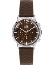Orla Kiely OK2001 Damer frankie kronograf mörkbrunt läder Strap Watch