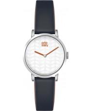 Orla Kiely OK2049 Damer luna svart läder Strap Watch