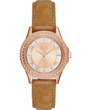 Armani Exchange AX5254 Damer klänning ljusbrun nabuck rem klocka