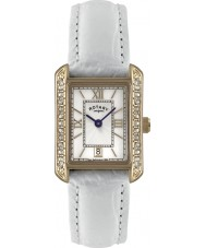 Rotary LS02652-41 Ladies klockor vit läderrem watch