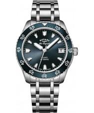 Rotary LB90168-05 Damer klockor arv silver stål armband klocka