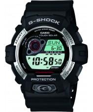 Casio GR-8900-1ER Mens g-shock soldrivna svart harts rem klocka