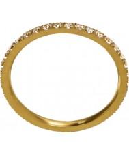 Edblad 216130153-M Damer glöd mikro matt guldring - storlek p (m)