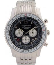 Krug-Baumen 600303DS Mens luft resande diamant klocka