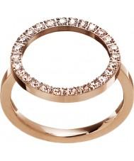 Edblad 3151441908-M Damer glöd ökade guldpläterad ring - storlek p (m)