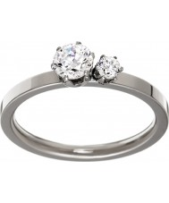Edblad 31630133-M Damer dubbel krona silver stålring - storlek p (m)