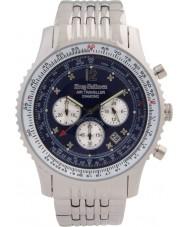 Krug-Baumen 600304DS Mens flygresenär diamant silver chronographklockan