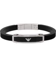Emporio Armani EGS1543040 Mens inlägg svarta armband