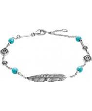 Thomas Sabo A1477-646-17-L19-5v Ladies silver dreamcatcher etno fjäder armband