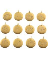 Edblad 31630145-C-ARIES Charmentity aries matt guldpläterade zodiac pendant