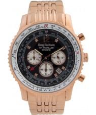 Krug-Baumen 600602DS Mens luft resande diamant klocka