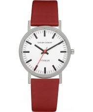 Danish Design Q19Q199 Mens röd läderband watch