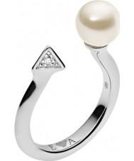 Emporio Armani EG3288040-6.5 Damer deco pärlor sterling silver ring - storlek M.5