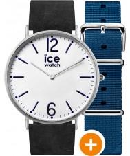 Ice-Watch CHL.B.FIN.41.N.15 Man is-stad klocka med blå nylon och svarta läderremmar