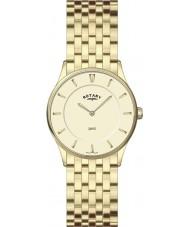 Rotary LB08203-03 Damer ultra smal champagne guld watch
