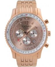 Krug-Baumen 600603DS Mens luft resande diamant klocka