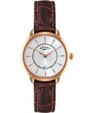 Rotary LS02919-03 Damer klockor elise brunt läder Strap Watch