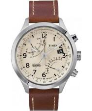 Timex T2N932 Mens grädde brun fly-back chronographklockan