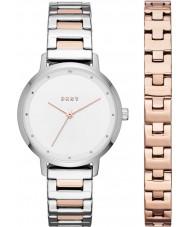 DKNY NY2643 Dam modernistiska klockgåva uppsättning