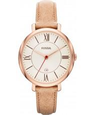 Fossil ES3487 Damer jacqueline sand läderrem watch