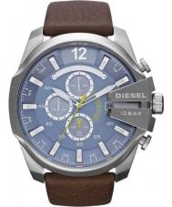 Diesel DZ4281 Mens mega chef blå brun chronographklockan
