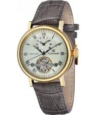 Thomas Earnshaw ES-8047-03 Mens Beaufort brunt lerkruka läderrem watch